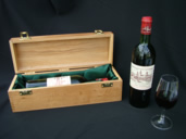 Single bottle wooden gift box