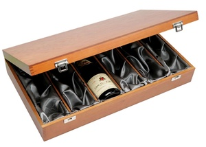 Six Bottle Stained Wine Gift Box