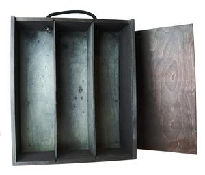 Three Bottle Wooden Wine Gift Box