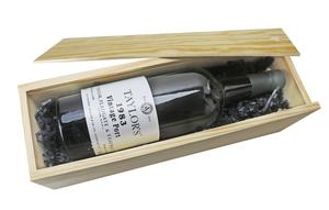Single Bottle Wooden Box with Sliding Lid